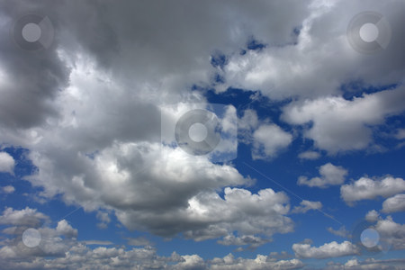 Clouds stock photo, White clouds in the blue sky detail by Rui Vale de Sousa