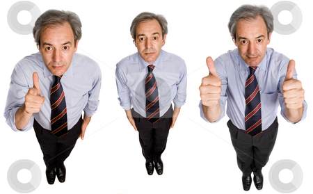 Thumb stock photo, Mature businessman in different positions, isolated on white by Rui Vale de Sousa