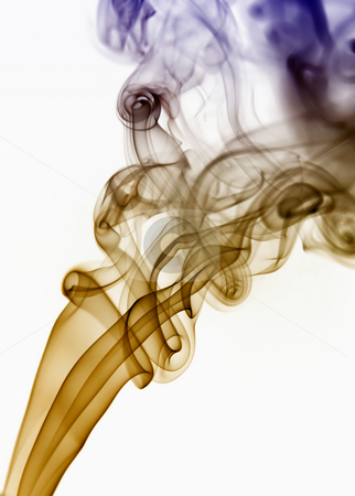 Smoke stock photo, Dark smoke from a cigarrette in white background by Rui Vale de Sousa