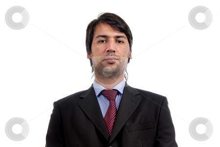 Male stock photo, Young business men portrait isolated on white. by Rui Vale de Sousa