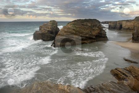 Beach stock photo, South portuguese beach of algarve at sunset by Rui Vale de Sousa