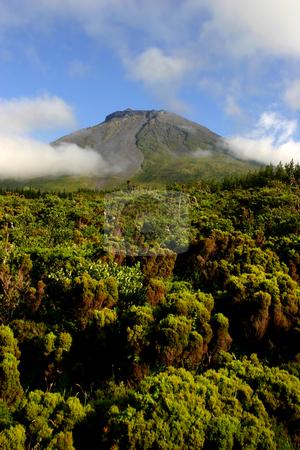 Mountain stock photo, Azores mountain of Pico in Pico island by Rui Vale de Sousa