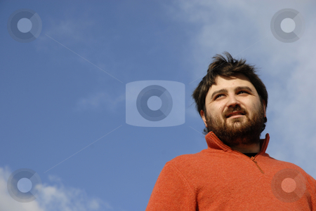 Dude stock photo, Young casual man with the sky as background by Rui Vale de Sousa