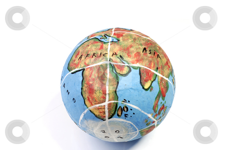 Globe stock photo, Closeup of a globe showing africa isolated on white by Rui Vale de Sousa