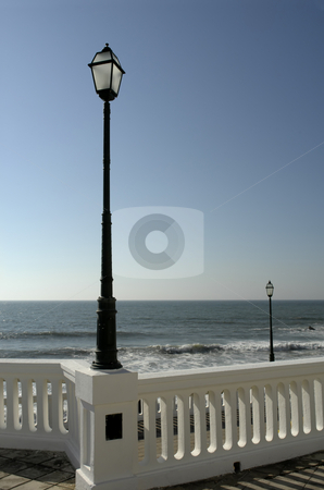 Lamps stock photo, Street lamps at the coast in portugal by Rui Vale de Sousa