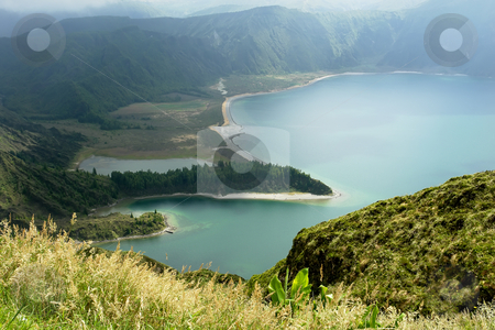 Lake of fire stock photo, The lake of fire in azores island of sao miguel by Rui Vale de Sousa