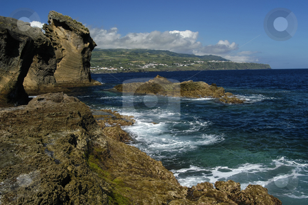 Coast stock photo, Azores coast detail by Rui Vale de Sousa