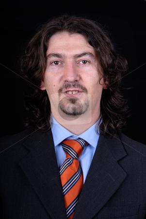 Portrait stock photo, Young business man portrait on white background by Rui Vale de Sousa