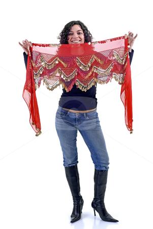 Dancer stock photo, Young woman portrait dancing with arab strap by Rui Vale de Sousa