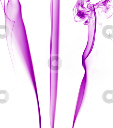 Smoke stock photo, Abstract colored smoke in a white background by Rui Vale de Sousa