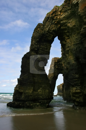 Arch stock photo, Famous cliff of Galizia in the north of spain by Rui Vale de Sousa