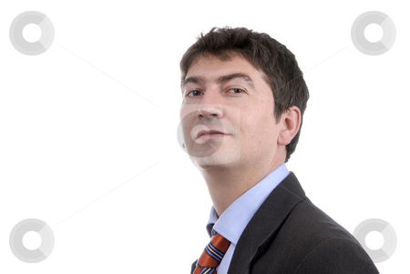 Male stock photo, Young business man portrait in white background by Rui Vale de Sousa