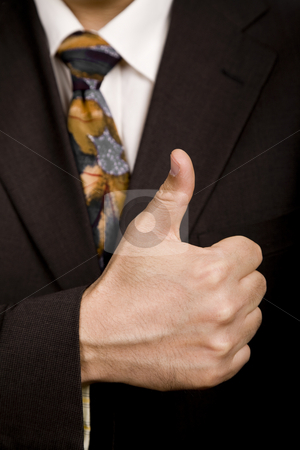 Thumb up stock photo, Hand going thumb up, business man detail by Rui Vale de Sousa