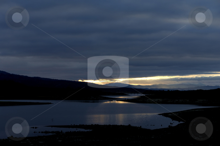 Lake stock photo, Sunset at the lake in the north of spain by Rui Vale de Sousa