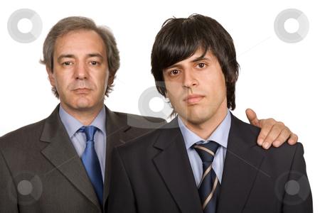Business men stock photo, Two young business men portrait, focus on the left man by Rui Vale de Sousa
