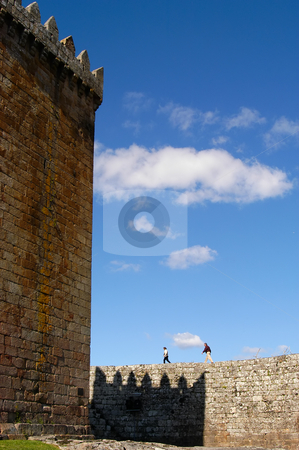 Castle stock photo, A old couple inside the castle in portugal by Rui Vale de Sousa