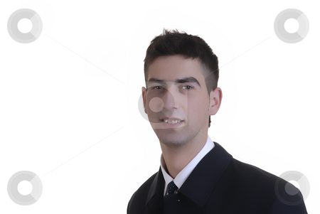 Man stock photo, Young business man in a white background by Rui Vale de Sousa