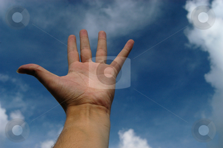 Hand stock photo, Hand and the sky by Rui Vale de Sousa
