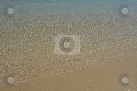 Coast stock photo, Green wave in the sand at the beach by Rui Vale de Sousa