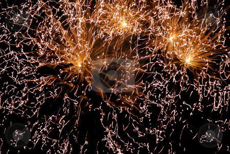 Abstract stock photo, Abstract colored fireworks in the dark night by Rui Vale de Sousa