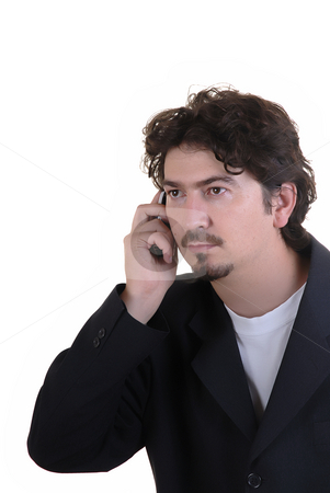 Call stock photo, Young casual man on the cell phone by Rui Vale de Sousa