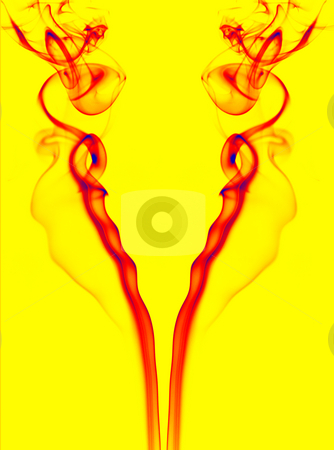 Colors stock photo, Abstract colored smoke lines in a yellow background by Rui Vale de Sousa