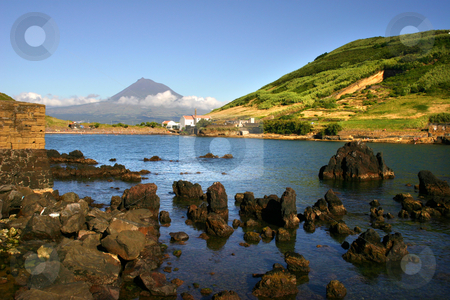 The bay stock photo, Azores port by Rui Vale de Sousa