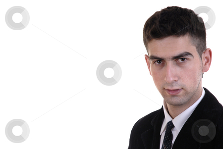 Youth stock photo, Young business close up portrait in white background by Rui Vale de Sousa
