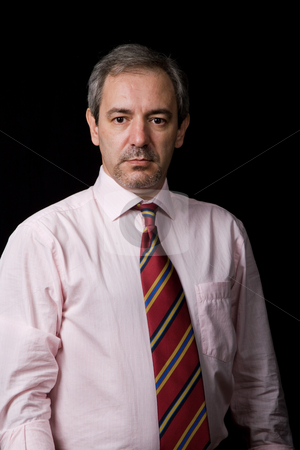 Businessman stock photo, Mature business man portrait on black background by Rui Vale de Sousa