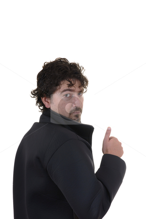 Thumbs up stock photo, Casual young man going  thumbs up with his hand by Rui Vale de Sousa