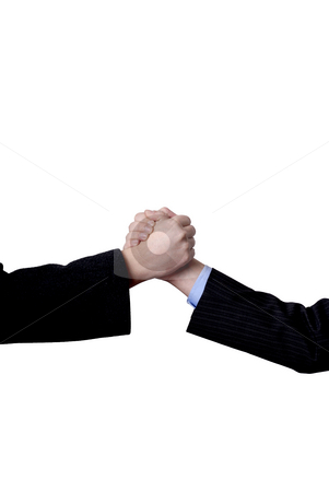 Shake stock photo, Business men hand shake in white background by Rui Vale de Sousa