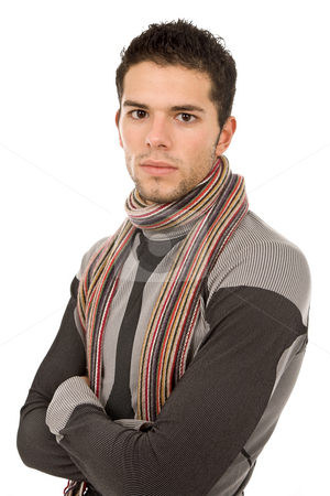 Casual stock photo, Young casual man portrait, isolated on white by Rui Vale de Sousa