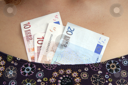 Money stock photo, Casual young woman with money in her dress by Rui Vale de Sousa