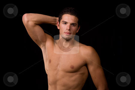 Young stock photo, Young sensual man on a black background by Rui Vale de Sousa