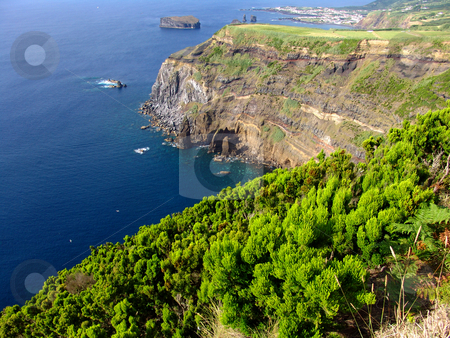 Green stock photo, Sea and land by Rui Vale de Sousa