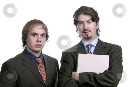 Stand stock photo, Two young business men portrait isolated on white by Rui Vale de Sousa