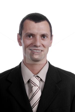 Portrait stock photo, Happy business man portrait on white background by Rui Vale de Sousa