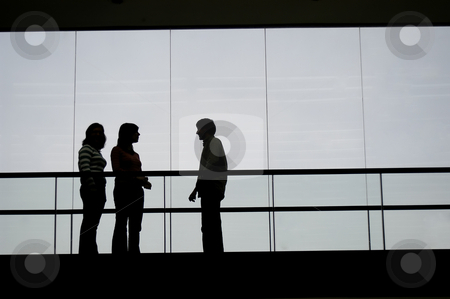 Meeting stock photo, Group talking in the building by Rui Vale de Sousa