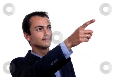 Finger stock photo, Businessman in a suit gestures with his finger by Rui Vale de Sousa