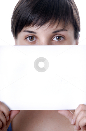 A card stock photo, Young girl holding a card, close up by Rui Vale de Sousa