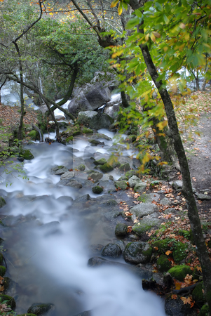 River stock photo, Long exposure in a river at autumn time by Rui Vale de Sousa