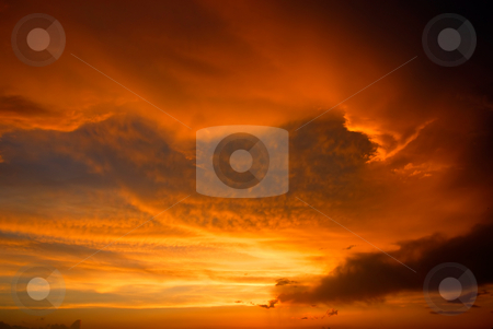 Sunset stock photo, Sunset and the orange clouds in the north of portugal by Rui Vale de Sousa