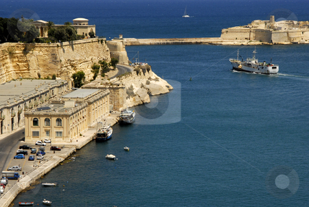Harbor stock photo, Valetta harbor view, Capital of Malta island by Rui Vale de Sousa