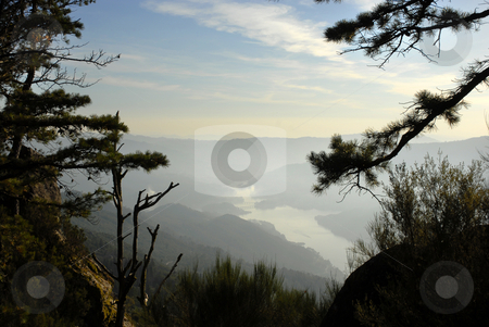 Mountains stock photo, View from the top of the mountain in the portuguese national park by Rui Vale de Sousa