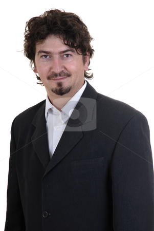 Boss stock photo, Young business man portrait in white background by Rui Vale de Sousa