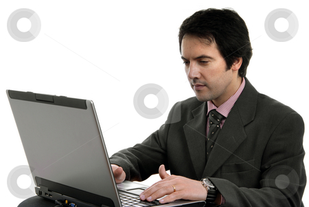 Working stock photo, Young man and working with is laptop by Rui Vale de Sousa