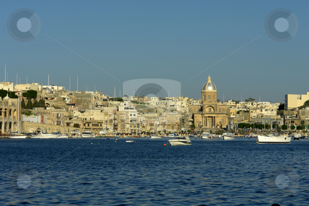 Malta stock photo, Ancient architecture of malta island at the port by Rui Vale de Sousa