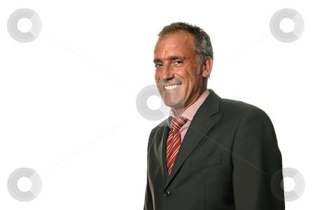 Happy stock photo, Happy business man portrait on white background by Rui Vale de Sousa