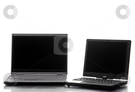 Laptops stock photo, A personal computer isolated on white background by Rui Vale de Sousa