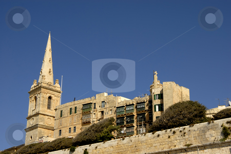 Church stock photo, Ancient malta church in valleta old town by Rui Vale de Sousa